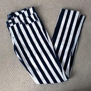 Royal Bones B&W Striped Pants